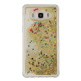 voordelige Galaxy J5 Hoesjes / covers-hoesje Voor Samsung Galaxy J5 (2016) / J5 / J3 (2016) Stromende vloeistof Achterkant Glitterglans Zacht TPU