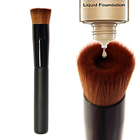 cheap Makeup & Nail Care-Professional Makeup Brushes Foundation Brush 1pcs Portable Eco-friendly Professional Limits Bacteria Synthetic Hair / Artificial Fibre Brush Wood Foundation Brushes for