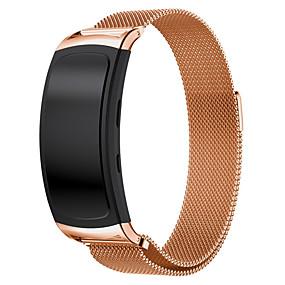 billige Mobiltelefonstilbehør-Urrem for Gear Fit 2 Samsung Galaxy Milanesisk rem Rustfrit stål Håndledsrem