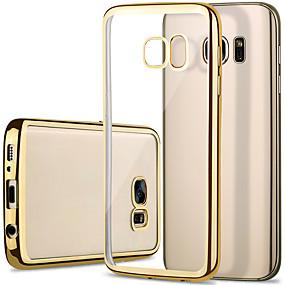 halpa Galaxy S -sarjan kotelot / kuoret-Etui Käyttötarkoitus Samsung Galaxy Samsung Galaxy S7 Edge Pinnoitus / Läpinäkyvä Takakuori Yhtenäinen TPU varten S7 edge / S7 / S6 edge