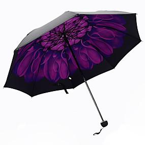 Недорогие Защита от дождя-Фиолетовый Складные зонты Зонт от солнца Plastic Аксессуары на коляску