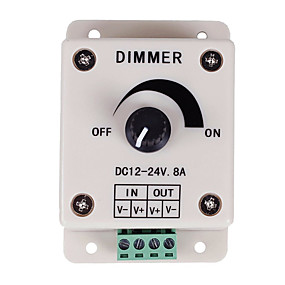 Недорогие RGB контроллеры-pwm регулятор яркости для светодиодных ламп или ленты 12 вольт 8 ampadjustable переключатель яркости подсветки регулятора яркости dc12v 8a 96w для светодиодной подсветки