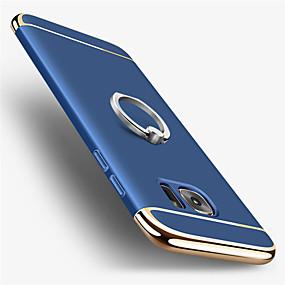 halpa Galaxy S -sarjan kotelot / kuoret-Etui Käyttötarkoitus Samsung Galaxy S7 edge / S7 Pinnoitus / Sormuksen pidike Takakuori Yhtenäinen Kova PC varten S7 edge / S7