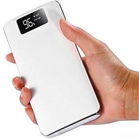 Недорогие 10000–20000 мАч-10000mah power bank внешнее зарядное устройство 5v 1a / 2a двойной usb-порт / фонарик / с кабелем / мульти-выход жк-дисплей