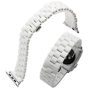 billige Apple-tilbehør-Urrem for Apple Watch Series 4/3/2/1 Apple Sommerfugle Spænde Keramik Håndledsrem