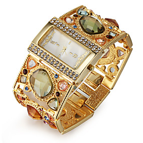 billige Smykker & Klokker-Dame Luksus Ure Armbåndsur Diamond Watch Japansk Quartz Gylden Imitasjon Diamant Analog damer Luksus Glitrende Mote Elegant - Gull Svart Ett år Batteri Levetid / SSUO SR626SW