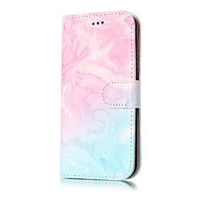 voordelige Galaxy J7 Hoesjes / covers-hoesje Voor Samsung Galaxy J7 (2016) / J7 / J5 (2017) Portemonnee / Kaarthouder / met standaard Volledig hoesje Marmer Hard PU-nahka