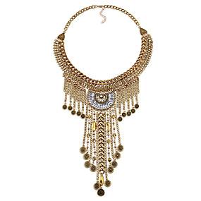 billige Strand Halskæder-Dame Strands halskæde Erklæring Personaliseret Vintage Euro-Amerikansk Chrome Guld Sølv Halskæder Smykker Til Bryllup Fest Tillykke