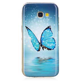 voordelige Galaxy A5(2016) Hoesjes / covers-hoesje Voor Samsung Galaxy A3 (2017) / A5 (2017) / A5(2016) Glow in the dark / Patroon Achterkant Vlinder Zacht TPU