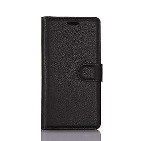 Χαμηλού Κόστους LG-tok Για LG K8 / LG / LG G4 Πορτοφόλι / Θήκη καρτών / με βάση στήριξης Πλήρης Θήκη Μονόχρωμο Σκληρή PU δέρμα για LG X Screen / LG X Power / LG V20 / LG G6 / LG K10