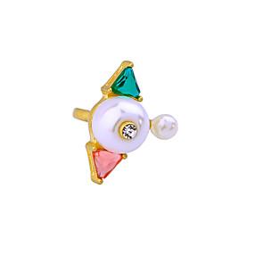 levne Šperky&Hodinky-Dámské Prsten Slitina Přizpůsobeno Jedinečný design minimalistický styl Fashion Ring Šperky Bílá Pro Svatební Párty Výročí Narozeniny Nastavitelný