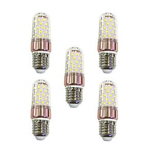 זול נורות תירס לד-5pcs 9 W נורות תירס לד 600 lm E27 T 60 LED חרוזים SMD 2835 לבן חם לבן 220-240 V