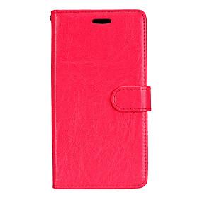 voordelige Galaxy J5 Hoesjes / covers-hoesje Voor Samsung Galaxy J7 (2016) / J7 / J5 (2016) Portemonnee / Kaarthouder / met standaard Volledig hoesje Effen Hard PU-nahka