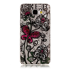 voordelige Galaxy A3(2016) Hoesjes / covers-hoesje Voor Samsung Galaxy A3 (2017) / A5 (2017) / A5(2016) Transparant / Patroon Achterkant Vlinder Zacht TPU