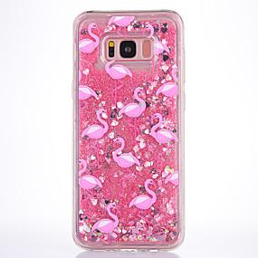 voordelige Galaxy S7 Hoesjes / covers-hoesje Voor Samsung Galaxy S8 Plus / S8 / S7 edge Stromende vloeistof / Transparant / Patroon Achterkant Flamingo Zacht TPU