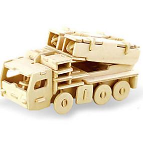 economico Modellini e costruzioni giocattolo-Puzzle 3D Puzzle Modellini di legno Dinosauro Carro armato Velivolo Fai da te di legno Classico Unisex Giocattoli Regalo