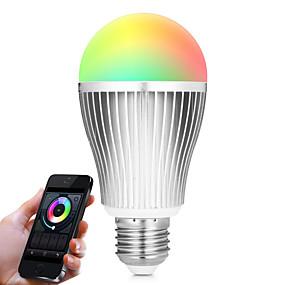 levne LED Smart žárovky-BRELONG® 1ks 9 W LED chytré žárovky 900 lm A60(A19) 20 LED korálky SMD 5730 Infračervený senzor Stmívatelné Dálkové ovládání R GB Bílá 85-265 V / 1 ks