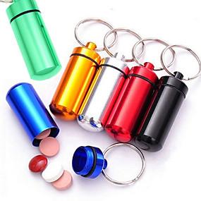 billige Artikler til hjemmet-6pc nyhed mini kapsel formet kasse flaskeholder beholder nøglering køkken opbevaring