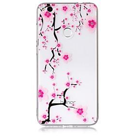 voordelige Huawei Honor hoesjes / covers-hoesje Voor Huawei / Huawei P8 Lite P10 Lite / P10 / P8 Lite (2017) Transparant / Patroon Achterkant Bloem Zacht TPU