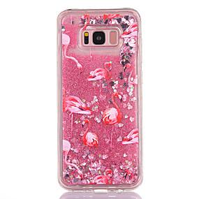 voordelige Galaxy S7 Hoesjes / covers-hoesje Voor Samsung Galaxy S8 Plus / S8 / S7 edge Stromende vloeistof / Transparant / Patroon Achterkant Flamingo / Glitterglans Zacht TPU