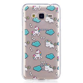 voordelige Galaxy J3 Hoesjes / covers-hoesje Voor Samsung Galaxy J7 Prime / J7 (2016) / J5 Prime IMD / Transparant / Patroon Achterkant dier Zacht TPU
