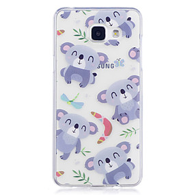 voordelige Galaxy A5(2016) Hoesjes / covers-hoesje Voor Samsung Galaxy A3 (2017) / A5 (2017) / A5(2016) IMD / Transparant / Patroon Achterkant Panda Zacht TPU