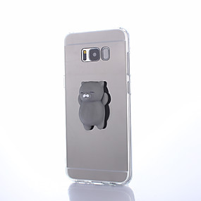 voordelige Galaxy S7 Hoesjes / covers-hoesje Voor Samsung Galaxy S8 Plus / S8 / S7 edge Spiegel / DHZ / squishy Achterkant Effen Hard PC