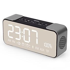 economico Casse-Q8 Stile Mini Bluetooth Visualizzazione del tempo AUX 3.5mm Oro Nero Rosa Azzurro chiaro