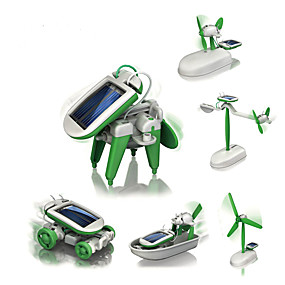 cheap Toy & Game-6 IN 1 Robot Solar Powered Toy Plane / Aircraft Windmill Ship Solar Powered DIY Education Kid's Toy Gift 1 pcs
