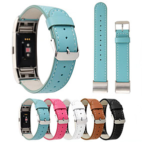 economico Cinturini per Fitbit-Cinturino per orologio  per Fitbit Charge 2 Fitbit Chiusura classica Vera pelle Custodia con cinturino a strappo