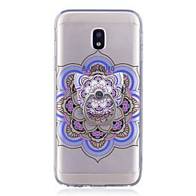 voordelige Galaxy J3 Hoesjes / covers-hoesje Voor Samsung Galaxy J7 (2017) / J7 (2016) / J5 (2017) Ringhouder / Transparant / Patroon Achterkant Mandala Zacht TPU