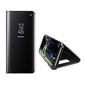 voordelige Galaxy S7 Hoesjes / covers-hoesje Voor Samsung Galaxy S8 Plus / S8 / S7 edge met standaard / Spiegel / Auto Slapen / Ontwaken Volledig hoesje Effen Hard PU-nahka