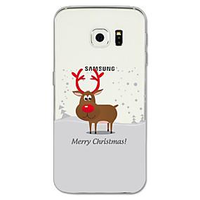 voordelige Galaxy S7 Edge Hoesjes / covers-hoesje Voor Samsung Galaxy S8 Plus / S8 / S7 edge Patroon Achterkant Kerstmis Zacht TPU