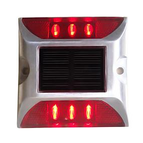 ieftine Becuri Solare LED-1 buc 6 W Proiectoare LED Decorativ Roșu <5 V Lumina Exterior 6 LED-uri de margele