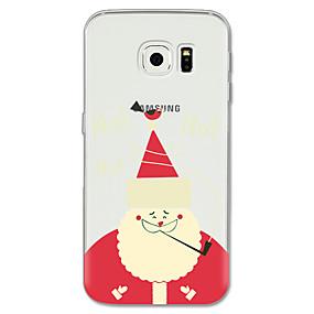 voordelige Galaxy S7 Hoesjes / covers-hoesje Voor Samsung Galaxy S8 Plus / S8 / S7 edge Patroon Achterkant Cartoon / Kerstmis Zacht TPU