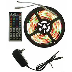 ieftine Benzi Lumină LED-SENCART 5m Bare De Becuri LED Rigide 300 LED-uri 5050 SMD RGB Telecomandă / Ce poate fi Tăiat / Intensitate Luminoasă Reglabilă 100-240 V 1set / De Legat / Auto- Adeziv / Schimbare - Culoare