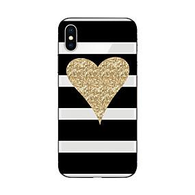 olcso iPhone tokok-Case Kompatibilitás Apple iPhone X / iPhone 8 Minta Fekete tok Vonalak / hullámok / Szív / Csillogó Puha TPU mert iPhone X / iPhone 8 Plus / iPhone 8