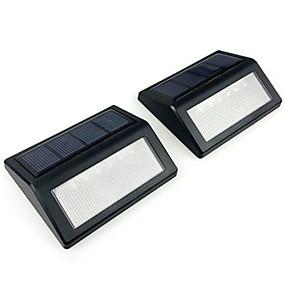 ieftine Becuri Solare LED-2pcs 6 condus de perete impermeabil condus solare lumina de noapte pir senzor de mișcare auto swith solare lampă verandă cale ferată stradă gard lumina