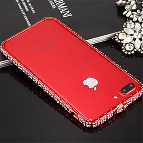 olcso iPhone tokok-Case Kompatibilitás iPhone 7 / Apple iPhone 7 Ütésálló Védőkeret Egyszínű Kemény Fém mert iPhone 8 / iPhone 7