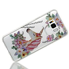 billige Samsung-tilbehør - nyheder-Etui Til Samsung Galaxy S8 Plus / S8 IMD / Mønster Bagcover enhjørning / Glitterskin Blødt TPU for S8 Plus / S8 / S7 edge