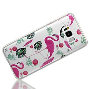 halpa Galaxy S -sarjan kotelot / kuoret-Etui Käyttötarkoitus Samsung Galaxy S8 Plus / S8 IMD / Kuvio Takakuori Flamingo / Kimmeltävä Pehmeä TPU varten S8 Plus / S8 / S7 edge