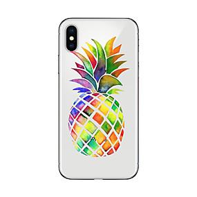 abordables Fundas para iPhone-Funda Para Apple iPhone X / iPhone 8 Plus Transparente / Diseños Funda Trasera Comida / Fruta Suave TPU para iPhone X / iPhone 8 Plus / iPhone 8