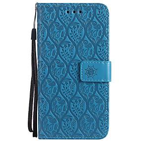 voordelige Galaxy J7 Hoesjes / covers-hoesje Voor Samsung Galaxy J7 Prime / J7 (2017) / J7 (2016) Portemonnee / Kaarthouder / met standaard Volledig hoesje Effen Hard PU-nahka