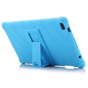 Χαμηλού Κόστους Αξεσουάρ για Tablet-πρότυπο κύμα μοτίβο σιλικόνης καουτσούκ γέλη δέρματος περίπτωση κάλυψης με τη βάση για lenovo καρτέλα 4 8 (tb-8504) 8,0 ιντσών δισκίο pc