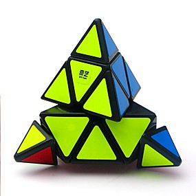 olcso Oktatási játékok-Magic Cube IQ Cube QIYI A Pyraminx Alien 3*3*3 Sima Speed Cube Rubik-kocka Stresszoldó Puzzle Cube Átlátszó matrica Professzionális Stressz és szorongás oldására Építészet Klasszikus Gyermek