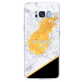 voordelige Galaxy S7 Hoesjes / covers-hoesje Voor Samsung Galaxy S8 Plus / S8 / S7 edge Patroon Achterkant Woord / tekst / Fruit / Marmer Zacht TPU