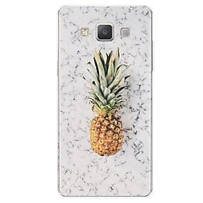 voordelige Galaxy A7(2016) Hoesjes / covers-hoesje Voor Samsung Galaxy A3 (2017) / A5 (2017) / A7 (2017) Patroon Achterkant Fruit / Marmer Zacht TPU