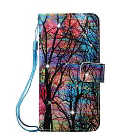 voordelige Galaxy J3 Hoesjes / covers-hoesje Voor Samsung Galaxy J7 (2016) / J5 (2016) / J5 Portemonnee / Kaarthouder / Strass Volledig hoesje Boom Hard PU-nahka