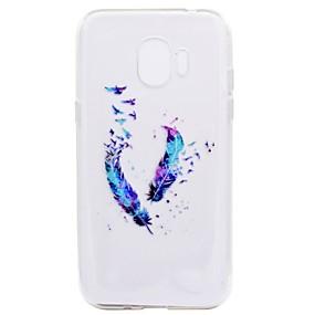 voordelige Galaxy J7 Hoesjes / covers-hoesje Voor Samsung Galaxy J7 Prime / J7 (2017) / J7 (2016) Transparant / Patroon Achterkant Veren Zacht TPU