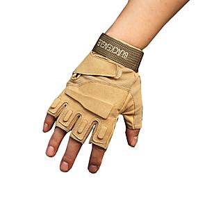 Χαμηλού Κόστους Γάντια Μοτοσυκλέτας-υπαίθρια μαύρα γεράκι τακτικής γάντια μισά γάντια δάχτυλο αντιολισθητική φθορά